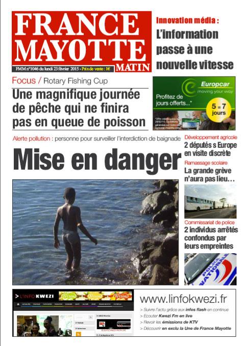 France Mayotte Lundi 23 février 2015
