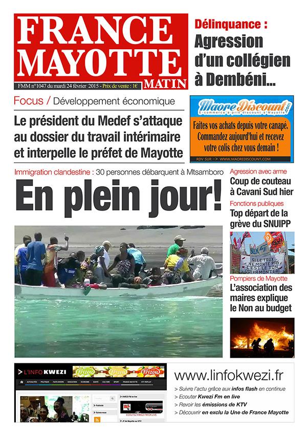 France Mayotte Mardi 24 février 2015