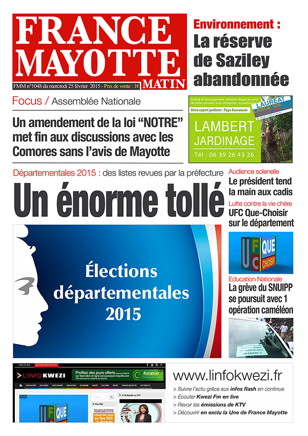 France Mayotte Mercredi 25 février 2015