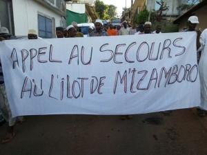 Manifestation à M'Tsamboro