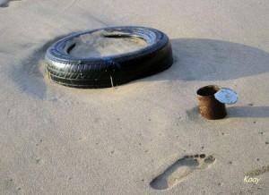 Fortes marées : le lagon pollué