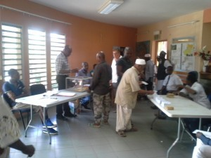 9h19 : 64 votants à la Mairie de Dembéni