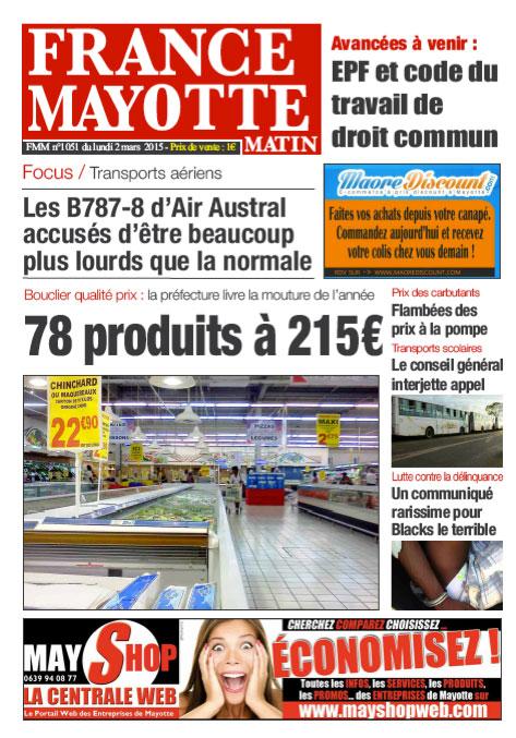 France Mayotte Lundi 2 mars 2015