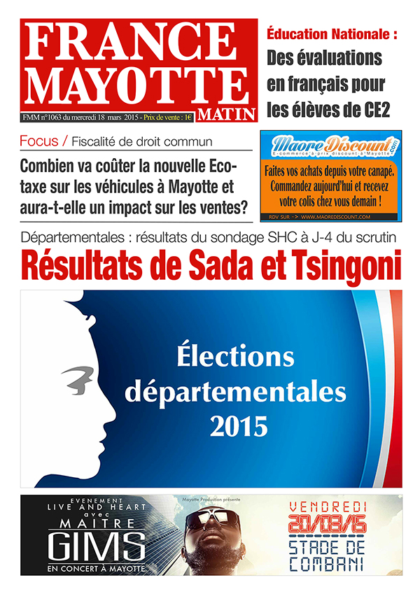 France Mayotte Mercredi 18 mars 2015