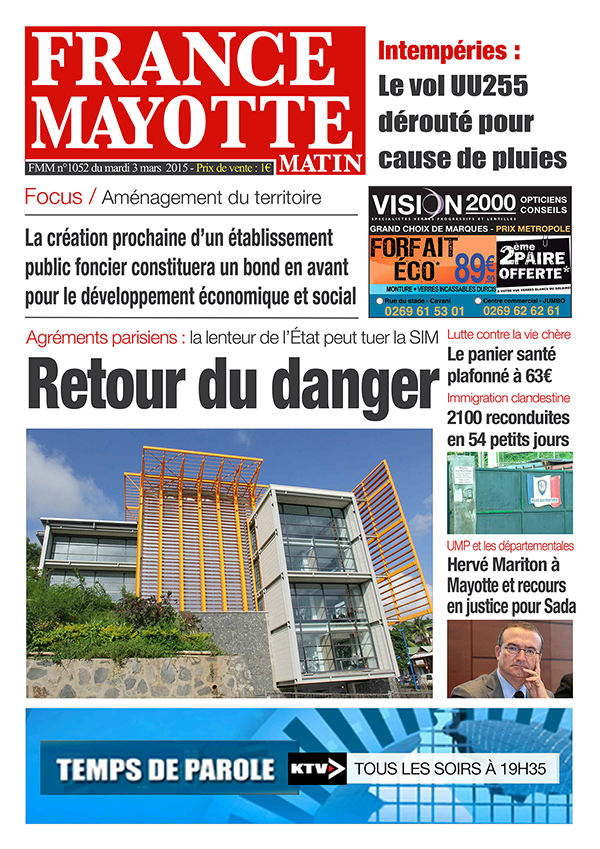 France Mayotte Mardi 3 mars 2015