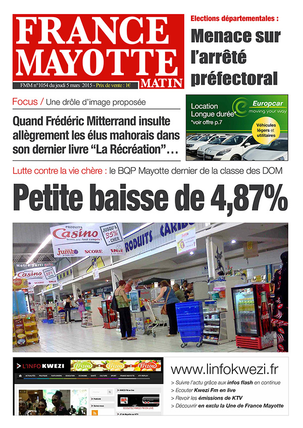 France Mayotte Jeudi 5 mars 2015