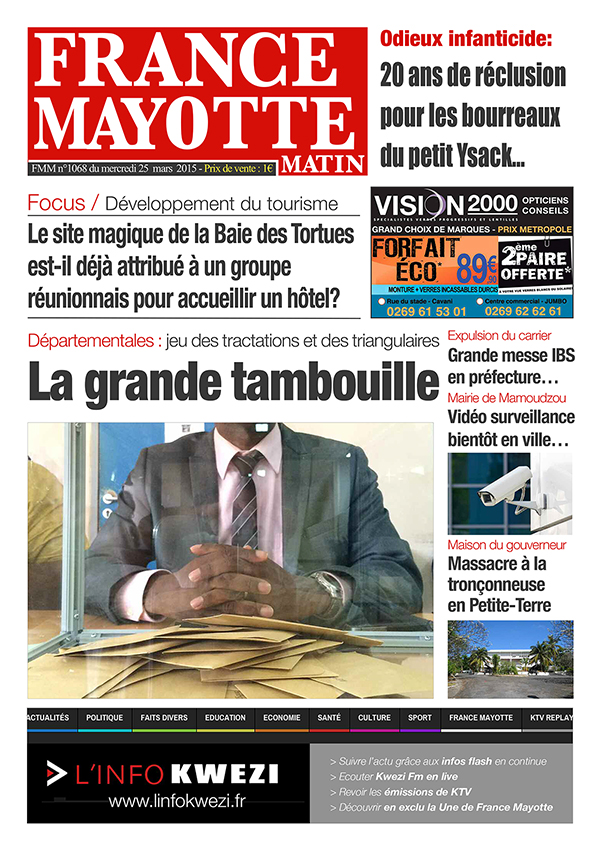 France Mayotte Mercredi 25 mars 2015