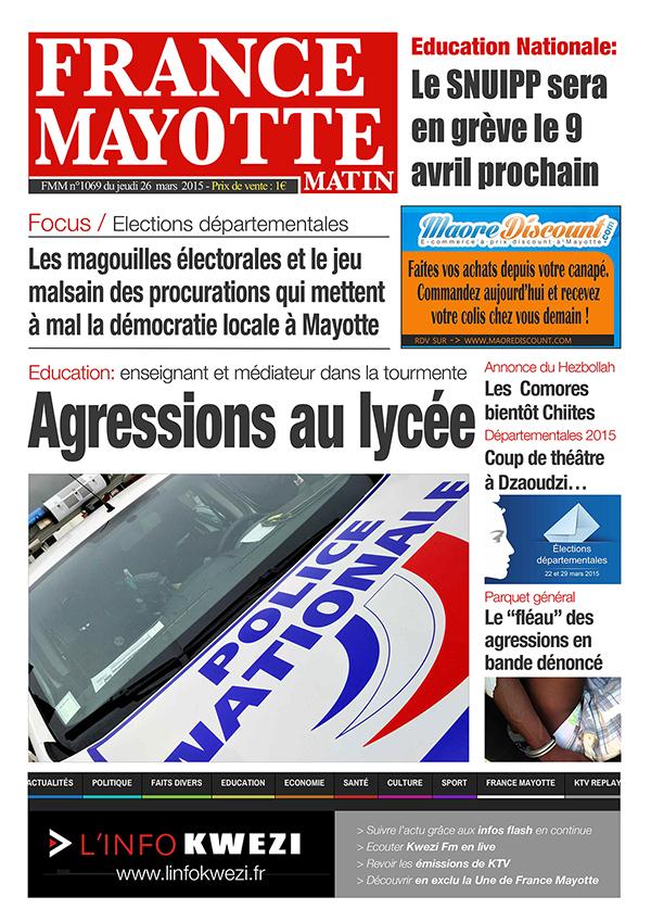 France Mayotte Jeudi 26 mars 2015