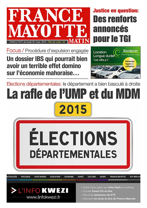 France Mayotte Lundi 30 mars 2015