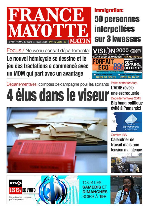 France Mayotte Mardi 31 mars 2015
