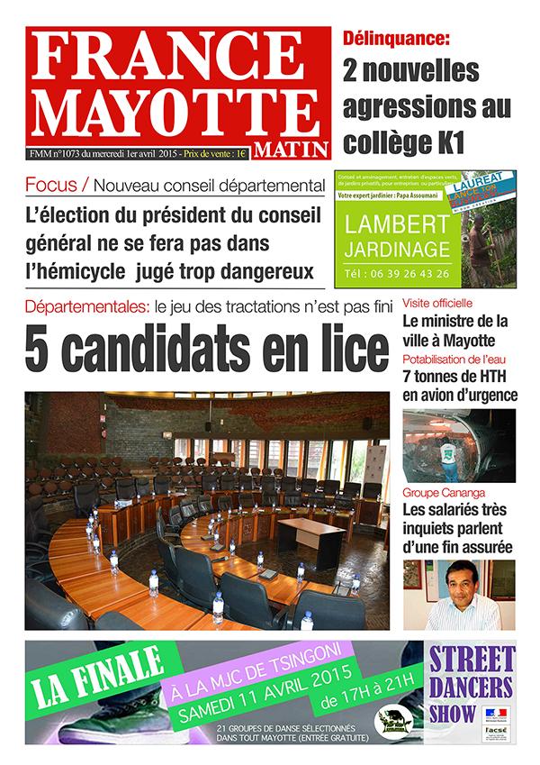 France Mayotte Mercredi 1er avril 2015