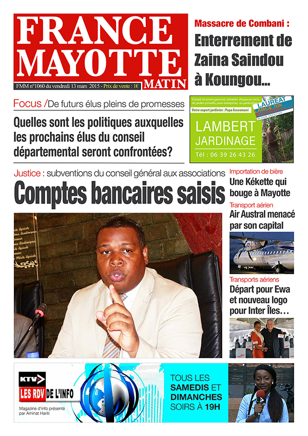 France Mayotte Vendredi 13 mars 2015