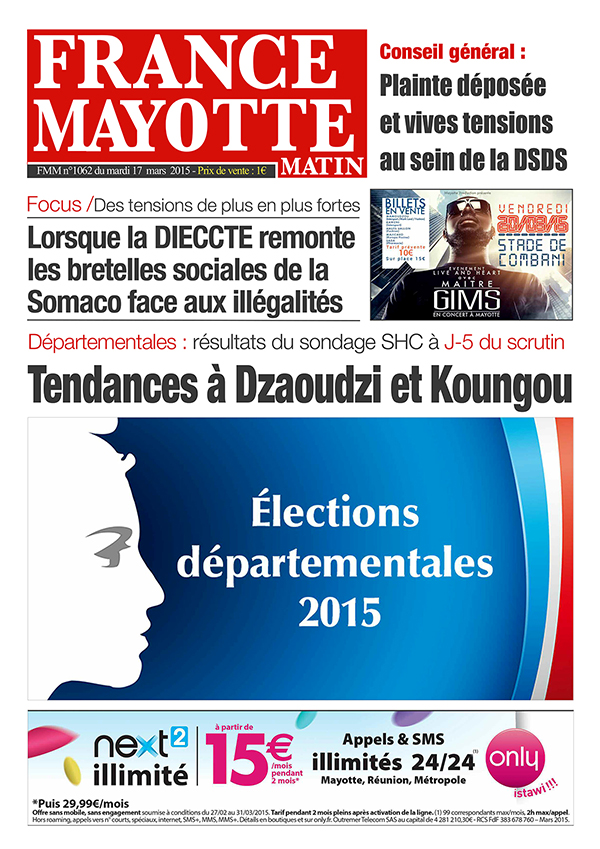 France Mayotte Mardi 17 mars 2015