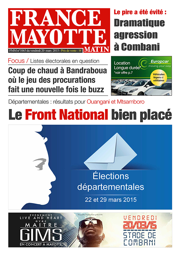 France Mayotte Vendredi 20 mars 2015