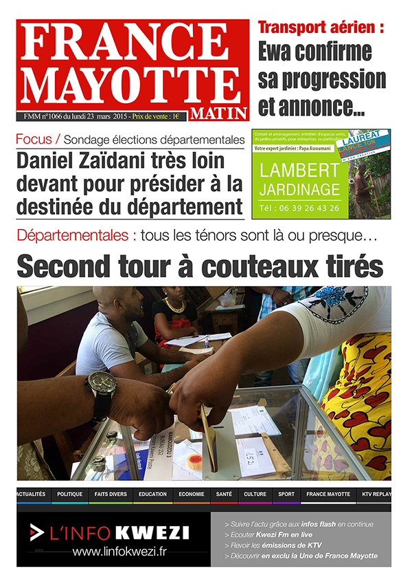 France Mayotte Lundi 23 mars 2015