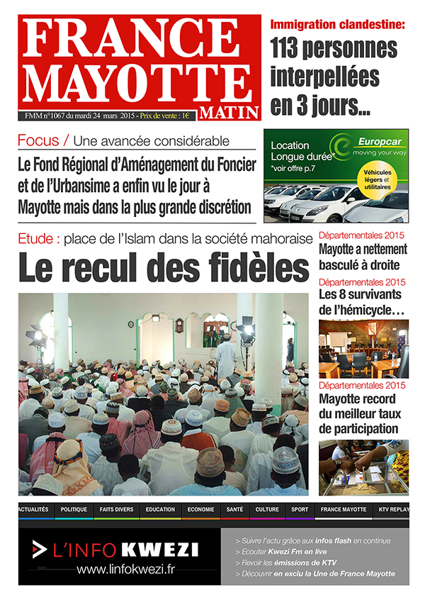 France Mayotte Mardi 24 mars 2015