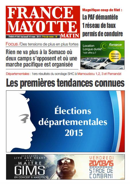 France Mayotte Lundi 16 mars 2015