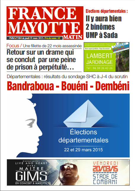 France Mayotte Jeudi 19 mars 2015