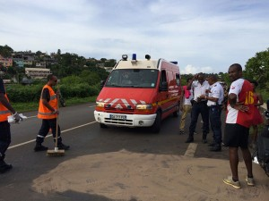 Violent accident sur la rocade
