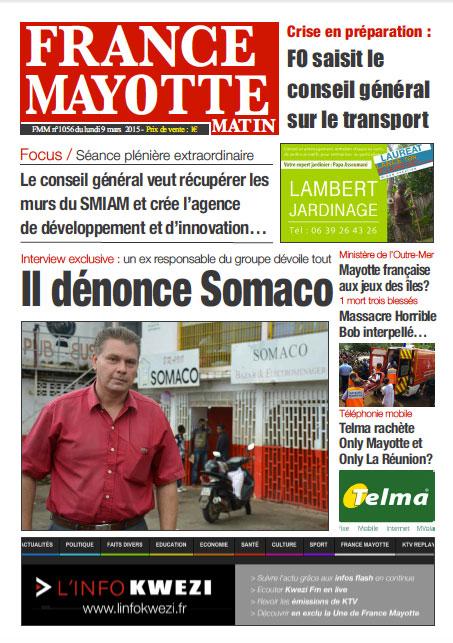 France Mayotte Lundi 9 mars 2015
