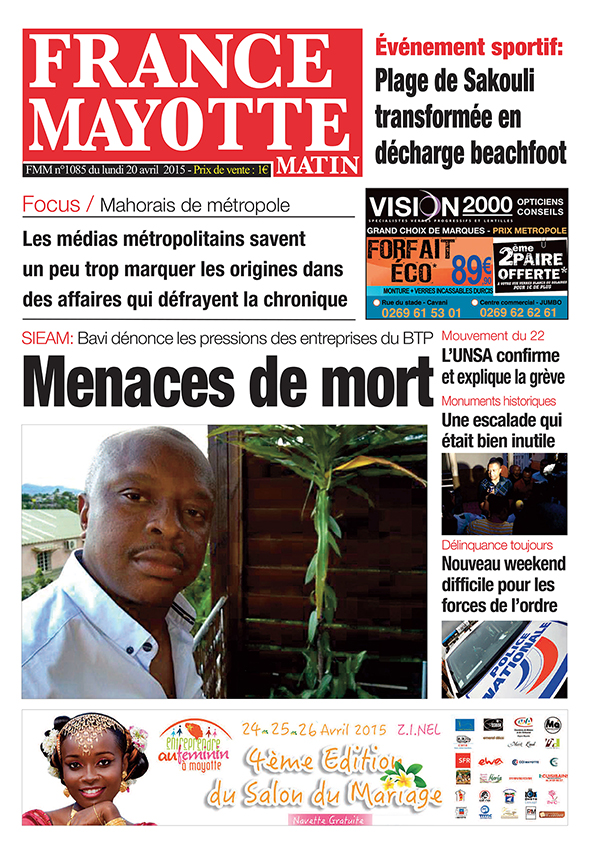 France Mayotte Lundi 20 avril 2015