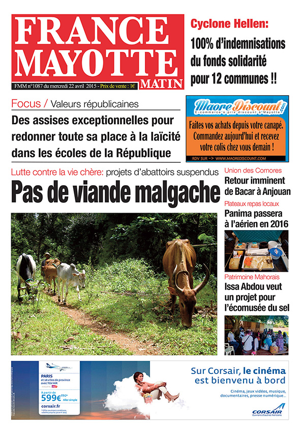 France Mayotte Mercredi 22 avril 2015