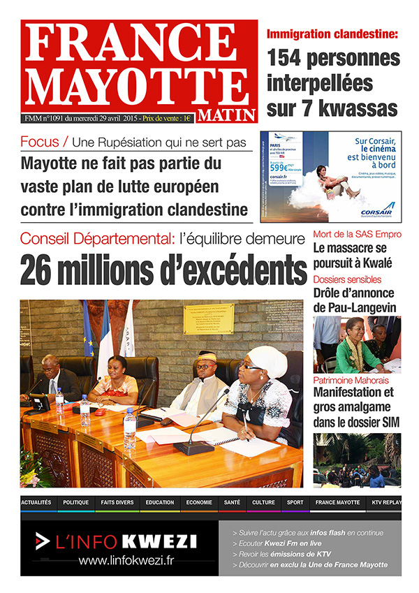 France Mayotte Mercredi 29 avril 2015