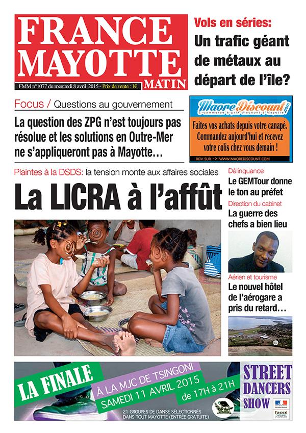 France Mayotte Mercredi 8 avril 2015
