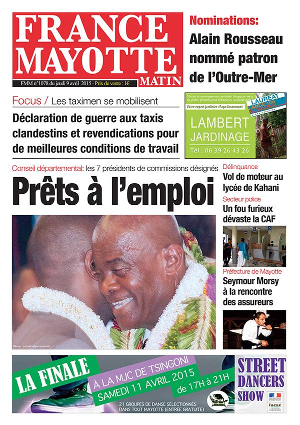 France Mayotte Jeudi 9 avril 2015