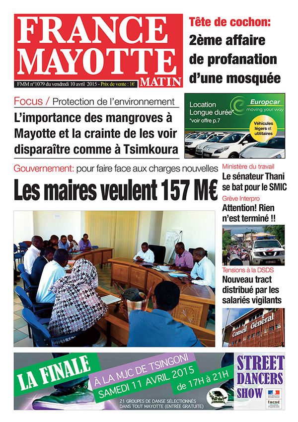 France Mayotte Vendredi 10 avril 2015