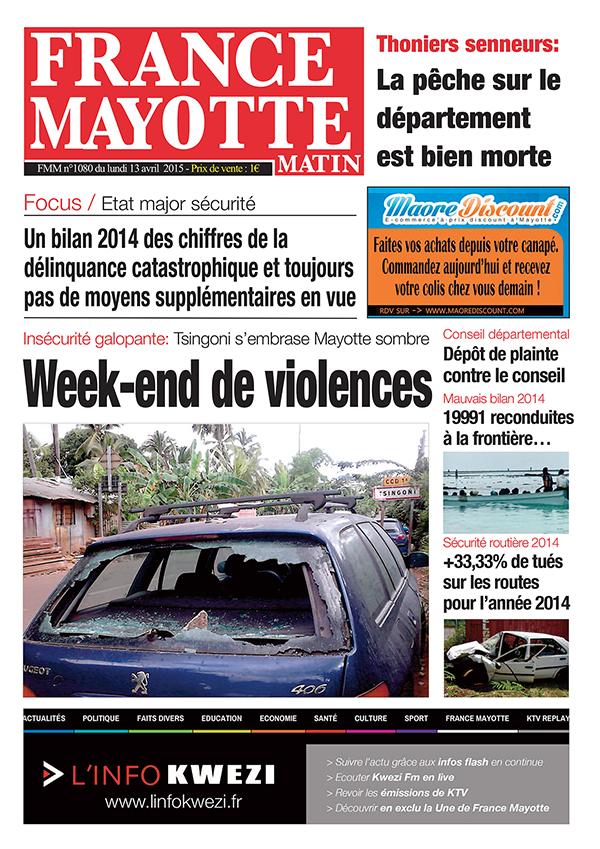 France Mayotte Lundi 13 avril 2015