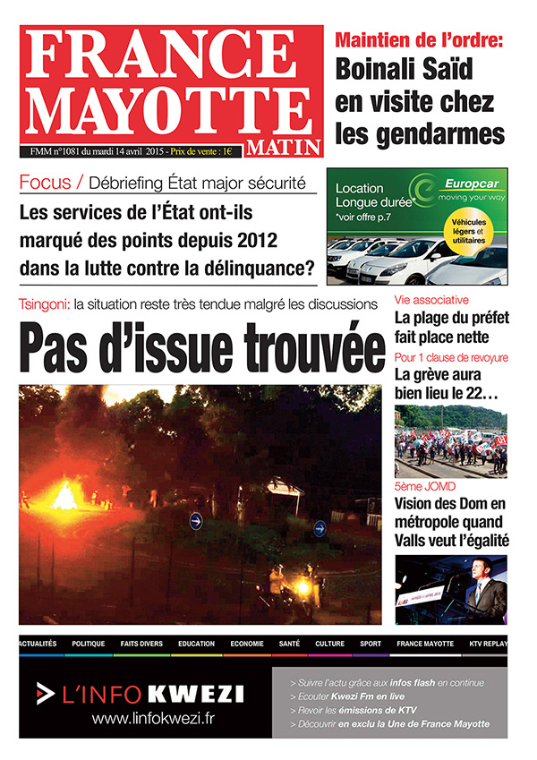 France Mayotte Mardi 14 avril 2015