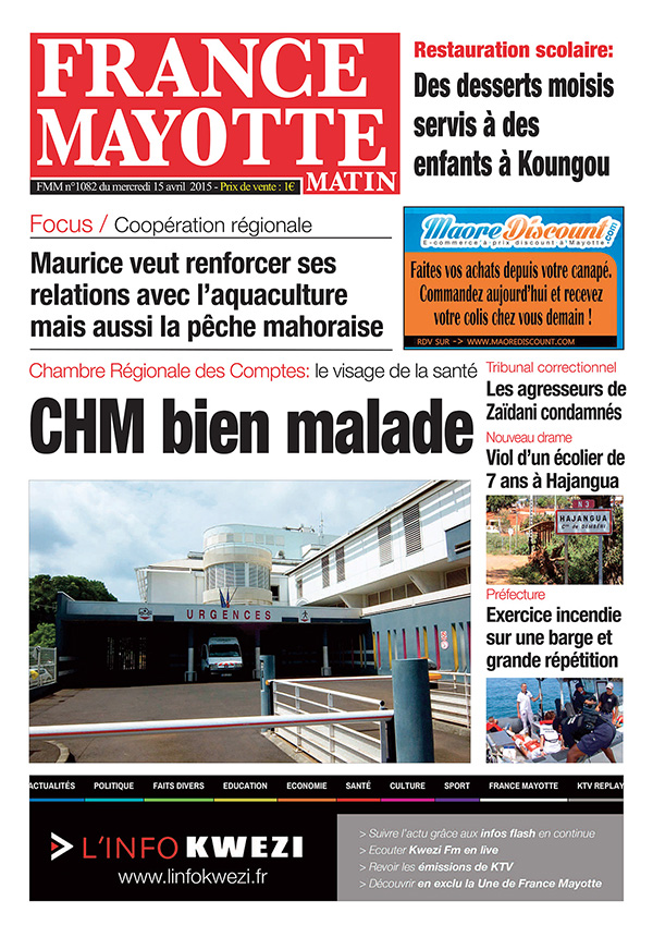 France Mayotte Mercredi 15 avril 2015