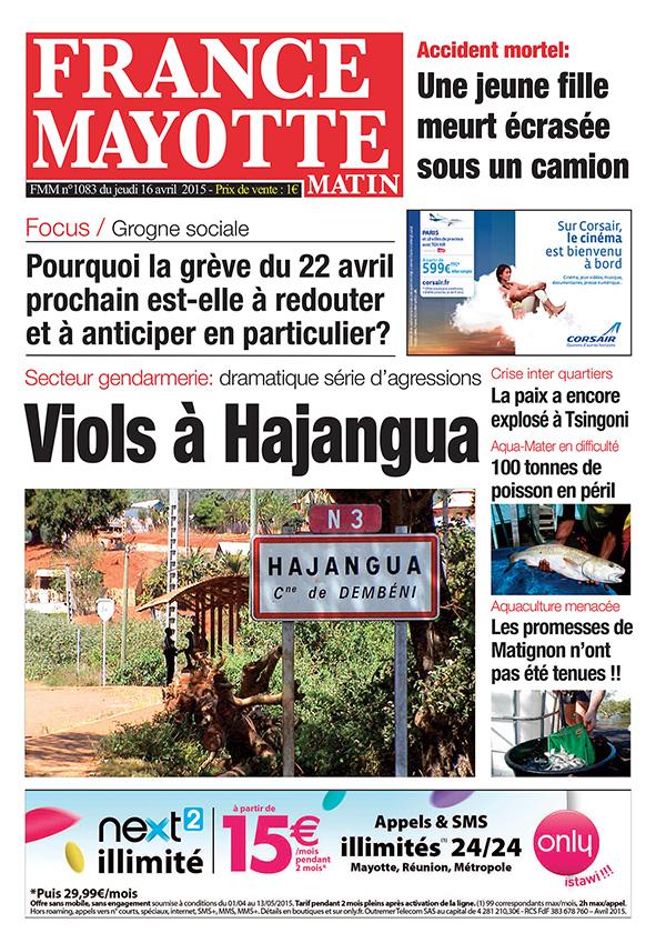 France Mayotte Jeudi 16 avril 2015