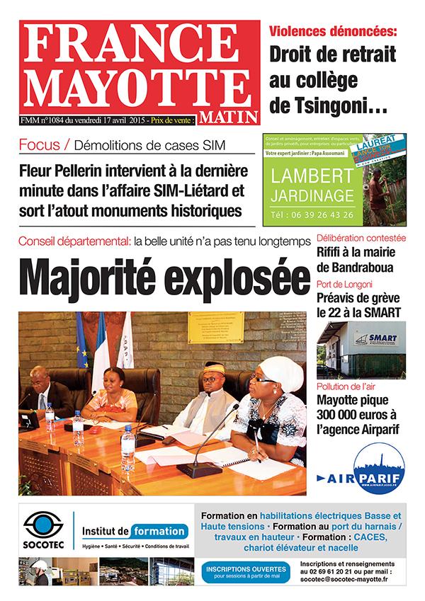 France Mayotte Vendredi 17 avril 2015