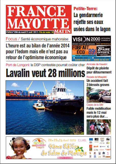 France Mayotte Mardi 21 avril 2015