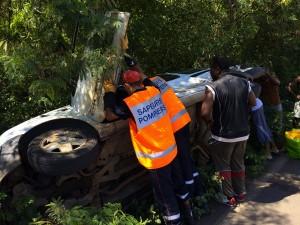 Accident spectaculaire à Cavani (vidéo)