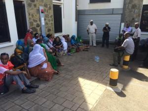 Un mouvement de grève à la BFCOI (photos)