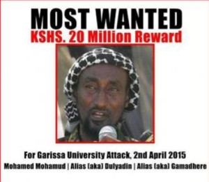 Kenya : une prime pour retrouver le cerveau de l'attaque de Garissa
