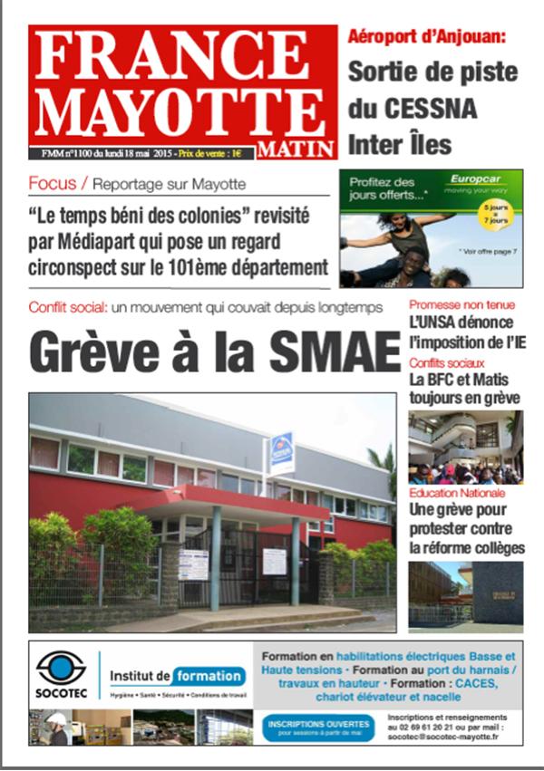 France Mayotte Lundi 18 mai 2015