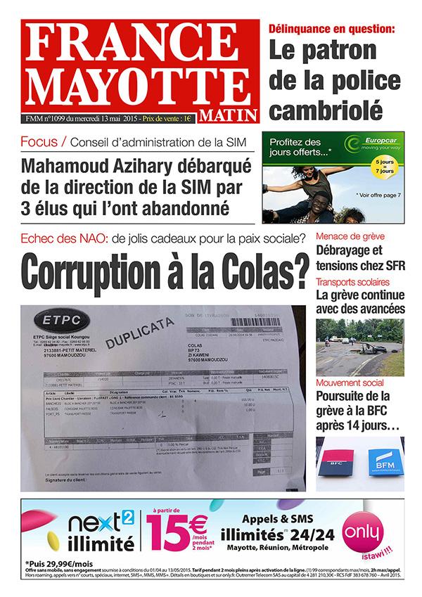 France Mayotte Mercredi 13 mai 2015