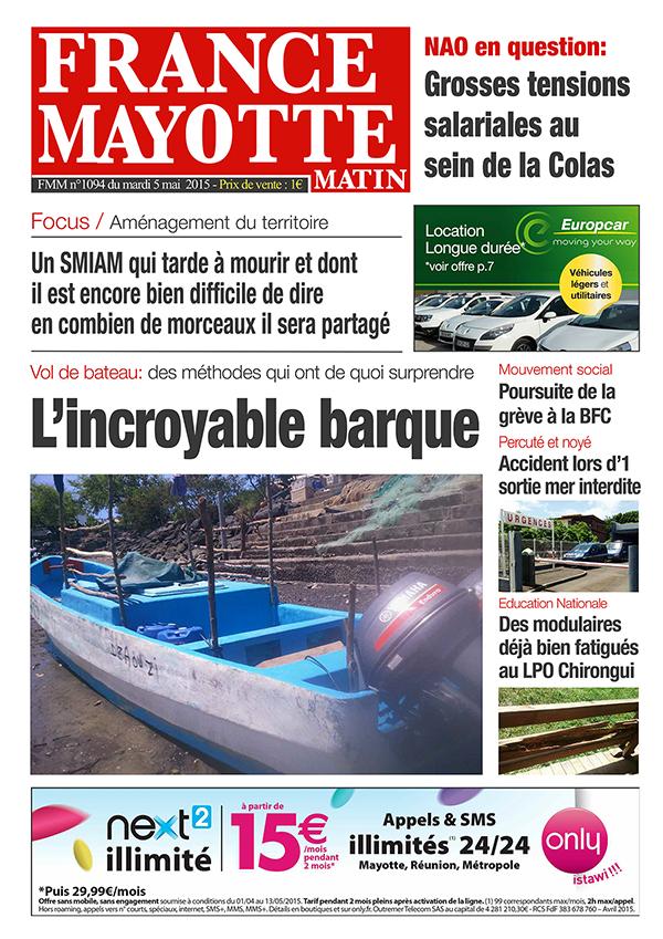 France Mayotte Mardi 5 mai 2015