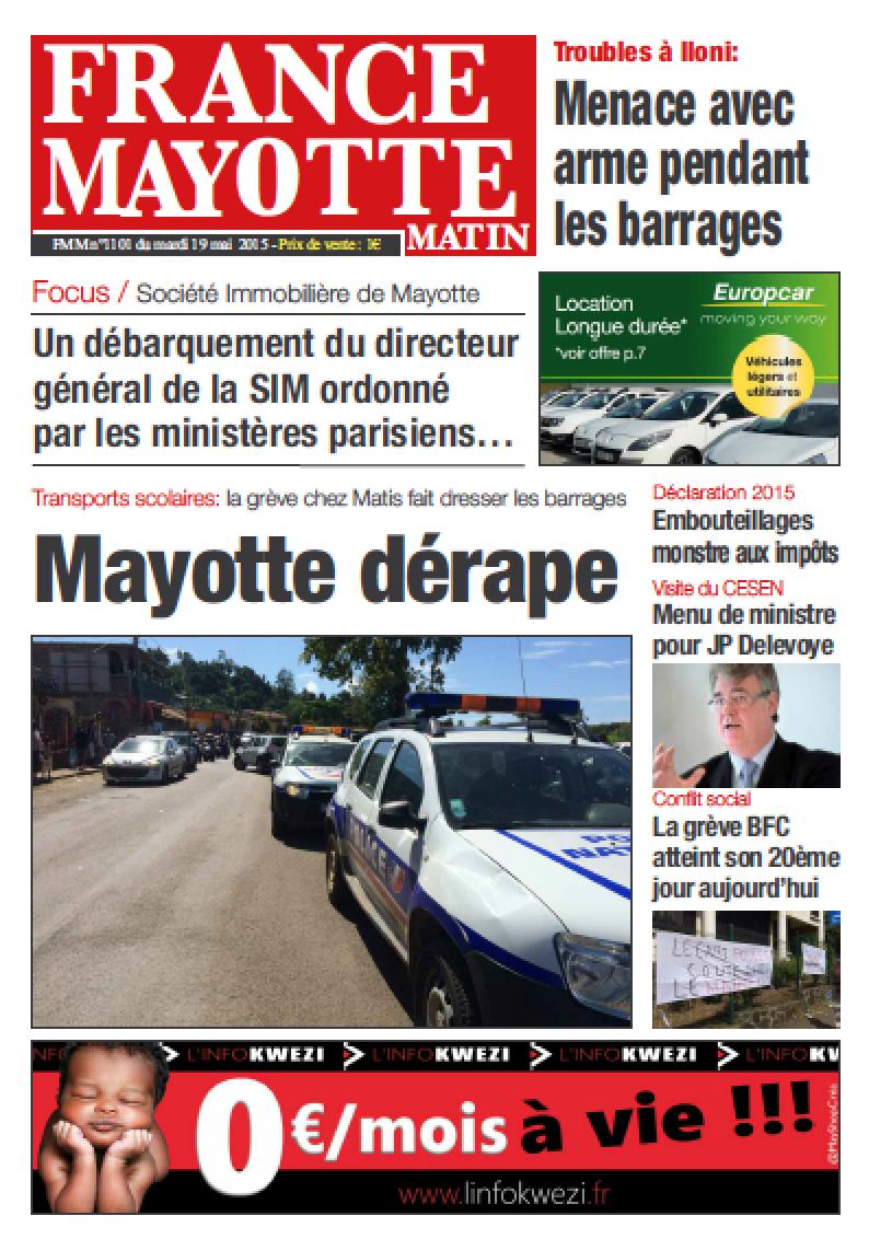 France Mayotte Mardi 19 mai 2015