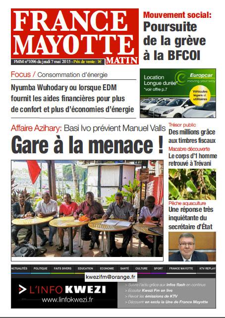 France Mayotte Jeudi 7 mai 2015