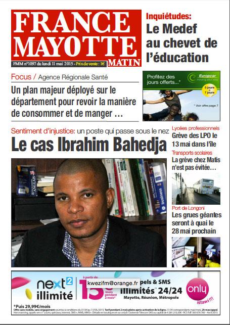 France Mayotte Lundi 11 mai 2015