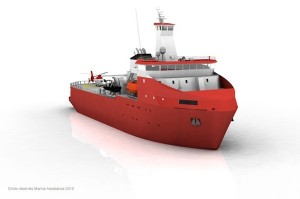 Commande d'un navire logistique polaire