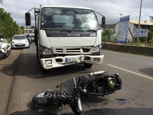 Accident à Cavani