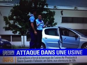 Attentat dans une usine de gaz industriels en Isère