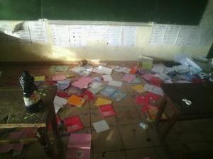 Les écoles Koropa 1 et Koropa 2 vandalisées