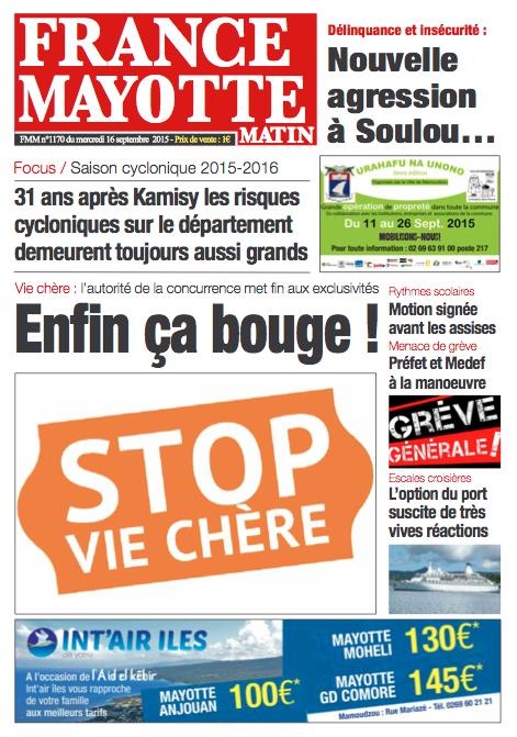 France Mayotte Mercredi 16 septembre 2015